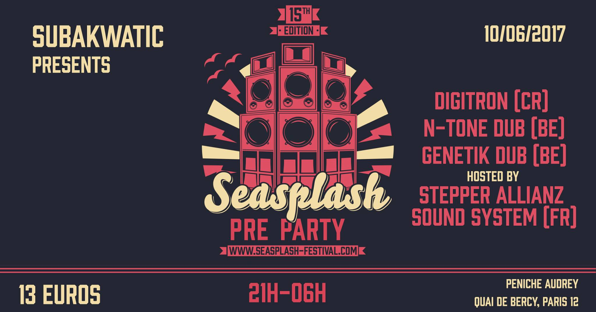 Seasplash warmup party in Paris on 10th June 2017
